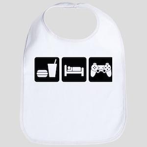Eat Sleep Game Bib