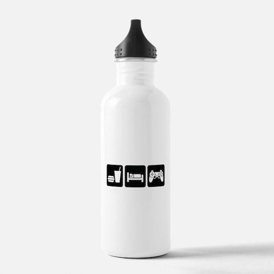 Eat Sleep Game Water Bottle