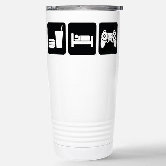 Eat Sleep Game Stainless Steel Travel Mug