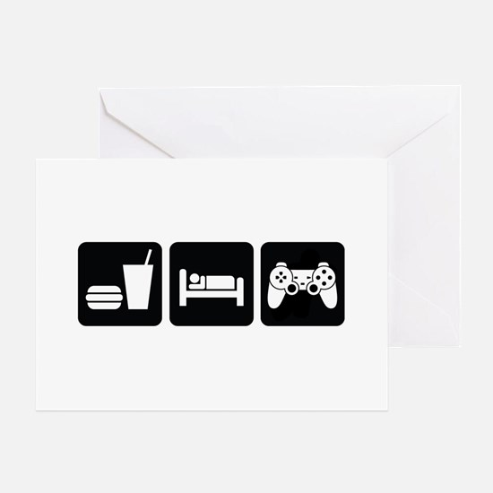 Eat Sleep Game Greeting Card