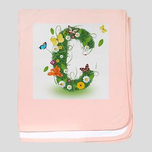 Monogram Letter C Baby Blanket