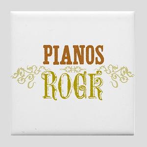 Pianos Tile Coaster