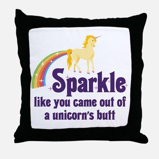 Unicorn Butt Throw Pillow