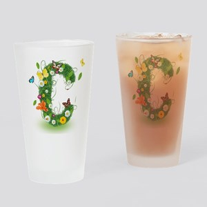 Monogram Letter C Drinking Glass