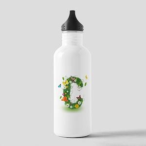 Monogram Letter C Water Bottle