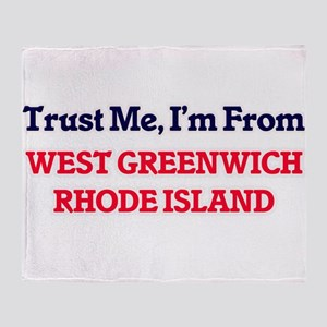 Trust Me, I'm from West Greenwich Rh Throw Blanket