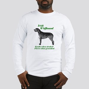 Irish Wolfhound Gentle when stroked Long Sleeve T-