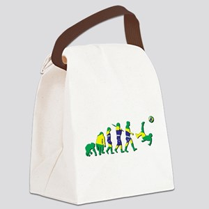 Evolution of Brazil Football Canvas Lunch Bag