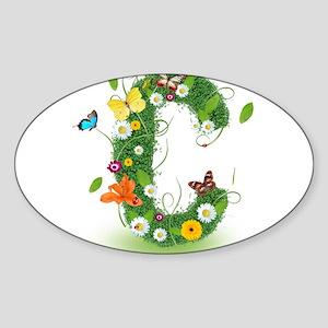 Monogram Letter C Sticker