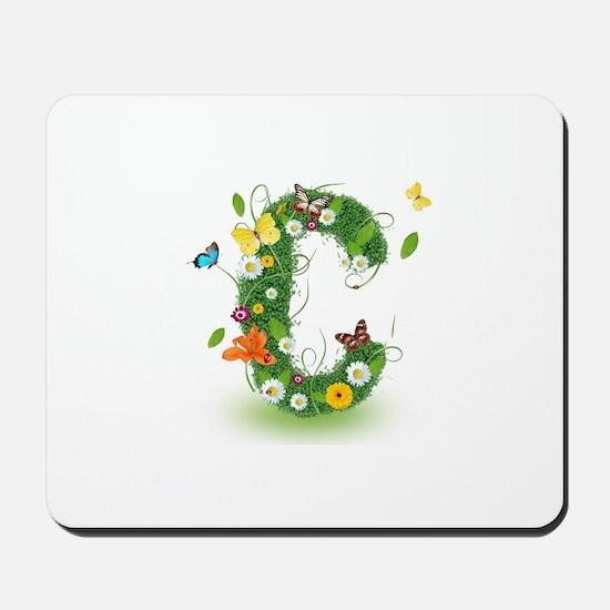 Monogram Letter C Mousepad