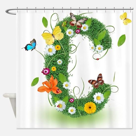 Monogram Letter C Shower Curtain