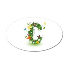 Monogram Letter C Wall Decal
