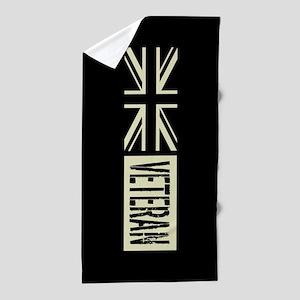 British Military: Veteran (Black Flag) Beach Towel