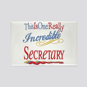 Incredible Secretary Rectangle Magnet