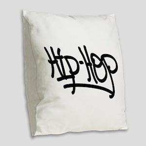 Hip-Hop Burlap Throw Pillow