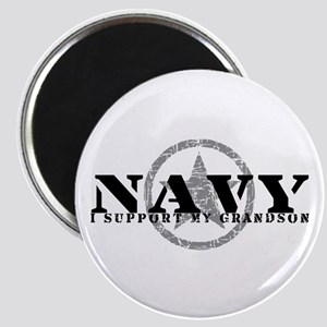 Navy - I Support My Grandson Magnet