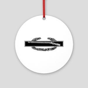 Combat Infantry Badge Ornament (Round)