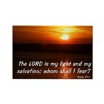 Psalm 27:1 Rectangle Magnet (10 pack)