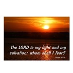 Psalm 27:1 Postcards (Package of 8)