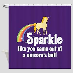 Unicorn Butt Shower Curtain