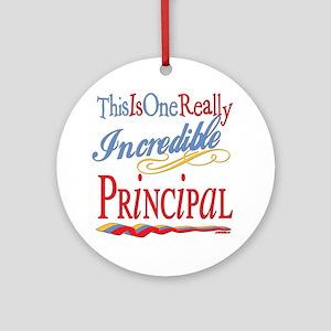 Incredible Principal Ornament (Round)