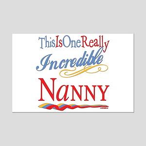 Incredible Nanny Mini Poster Print