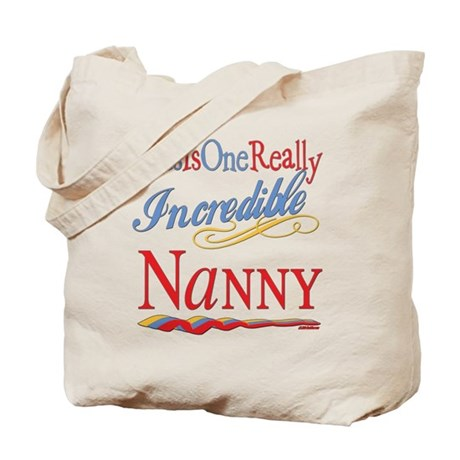 Incredible Nanny Tote Bag