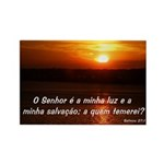 Salmos 27:1 Rectangle Magnet (10 pack)