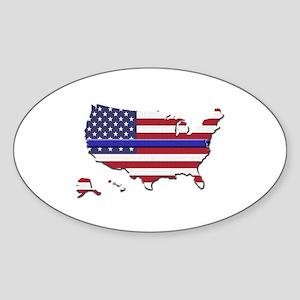 Thin Blue Line US Flag Sticker