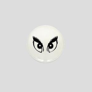 Girly Eyes Mini Button