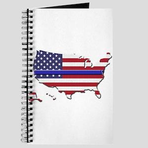 Thin Blue Line US Flag Journal