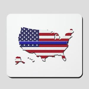 Thin Blue Line US Flag Mousepad