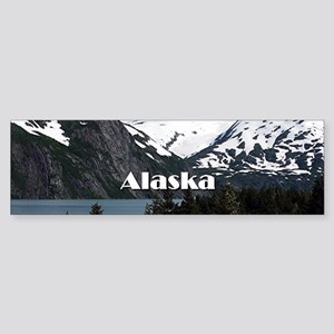 Alaska: Portage Lake and mountains Bumper Sticker