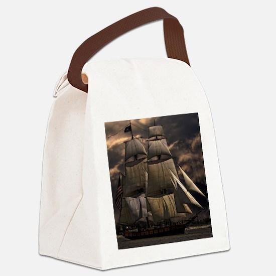 Unique Pirate sail ship history Canvas Lunch Bag