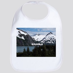 Alaska: Portage Lake and mountains Bib