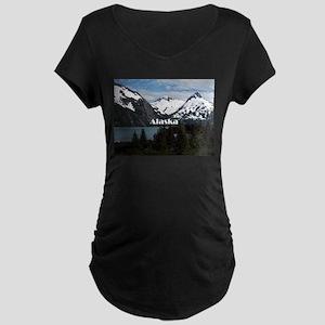 Alaska: Portage Lake and mountai Maternity T-Shirt