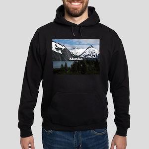Alaska: Portage Lake and mountains Hoodie (dark)