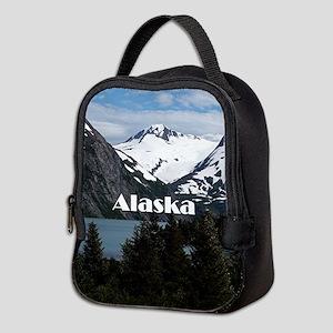 Alaska: Portage Lake and mounta Neoprene Lunch Bag