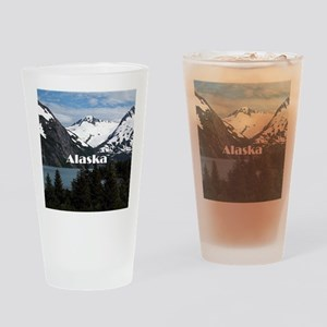 Alaska: Portage Lake and mountains Drinking Glass