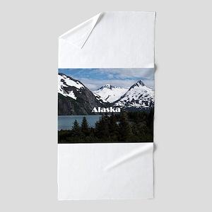Alaska: Portage Lake and mountains Beach Towel