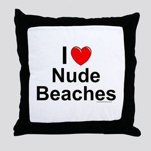 Nude Beaches Throw Pillow