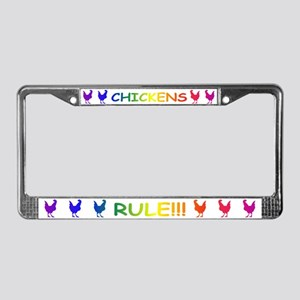 Chickens Rule License Plate Frame