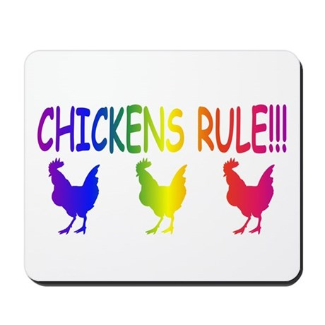 Chickens Rule Mousepad