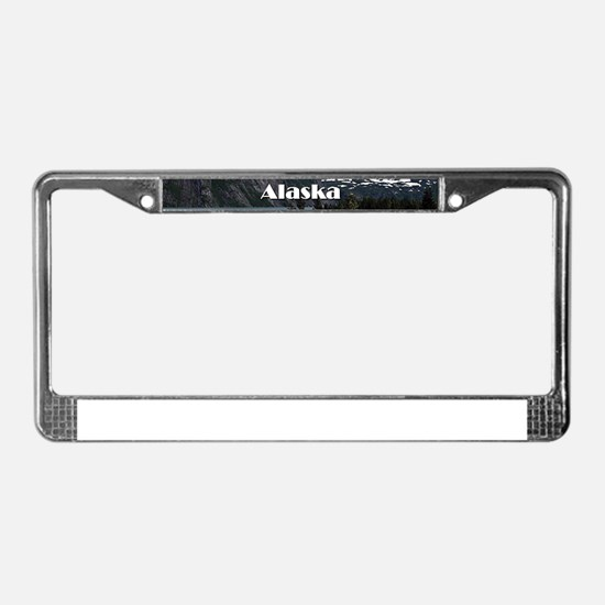 Alaska: Portage Lake and mount License Plate Frame