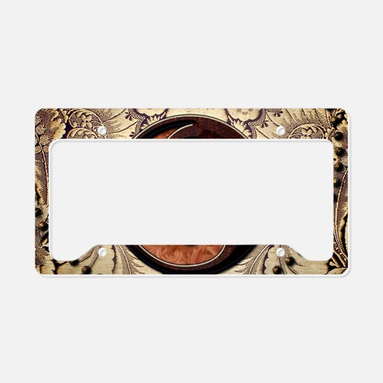 The sign ying and yang License Plate Holder