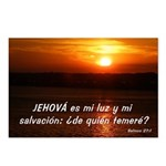 Salmos 27:1 Postcards (Package of 8)
