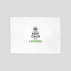 Lathers I cant keeep calm 5'x7'Area Rug