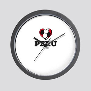 Peru Soccer Shirt 2016 Wall Clock