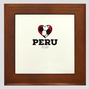 Peru Soccer Shirt 2016 Framed Tile