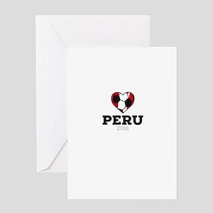 Peru Soccer Shirt 2016 Greeting Cards